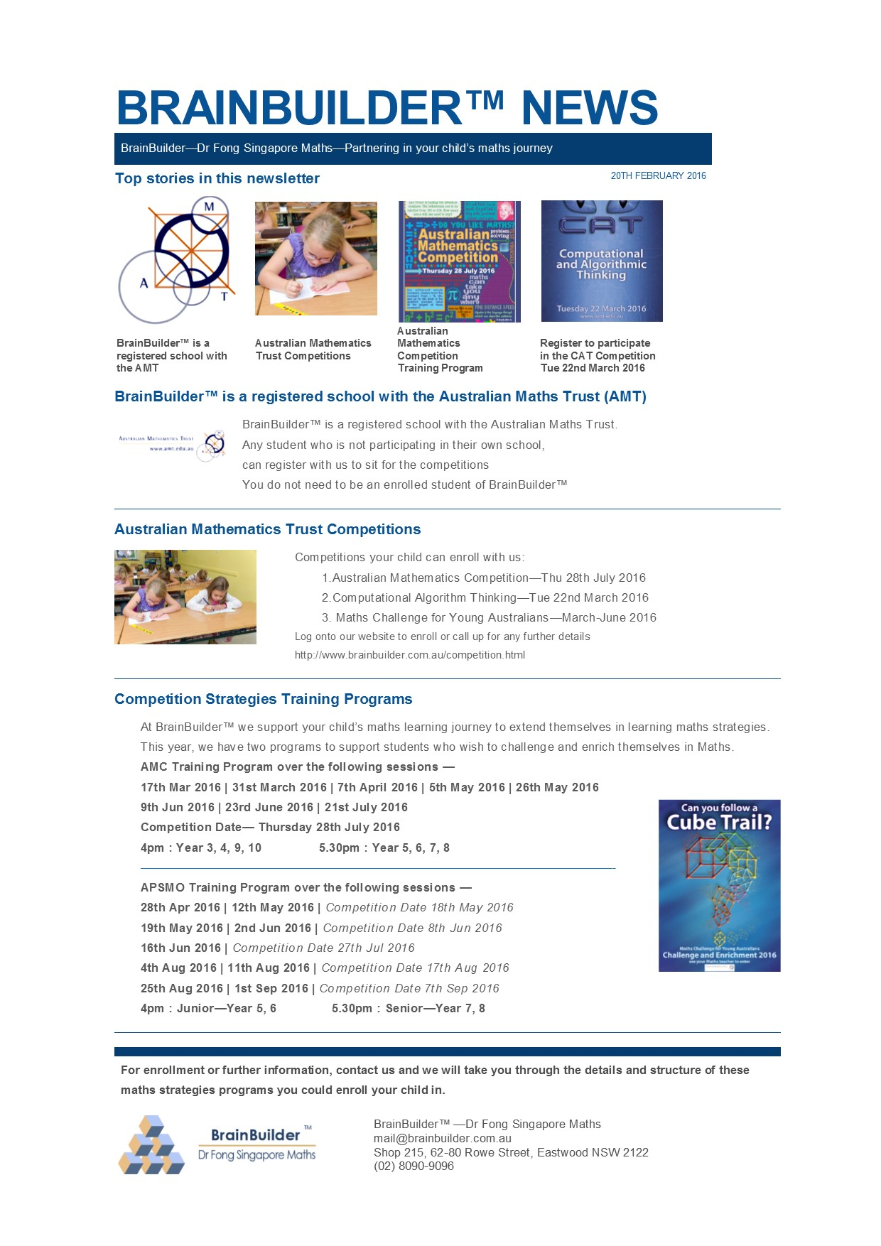 BrainBuilder™ now AMT Testing Centre - BrainBuilder™ - Dr Fong