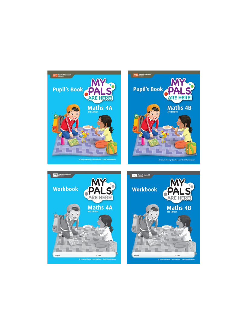 My Pals are Here! Maths Pupil\'s Book and Workbook 4A and 4B package ...